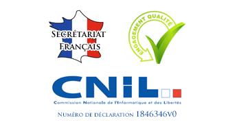 logo labels secrétariat en france secrétariat enregistré à la cnil